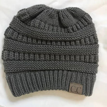 Wholesale Women CC Ponytail Caps CC Knitted Hat Beanie Girls Winter Warm Hats