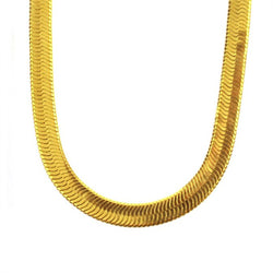 PVD 18K Gold Herringbone Chains