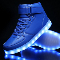 High Top Led Shoes - Blue