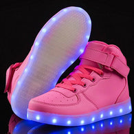 High Top Led Shoes - Pink