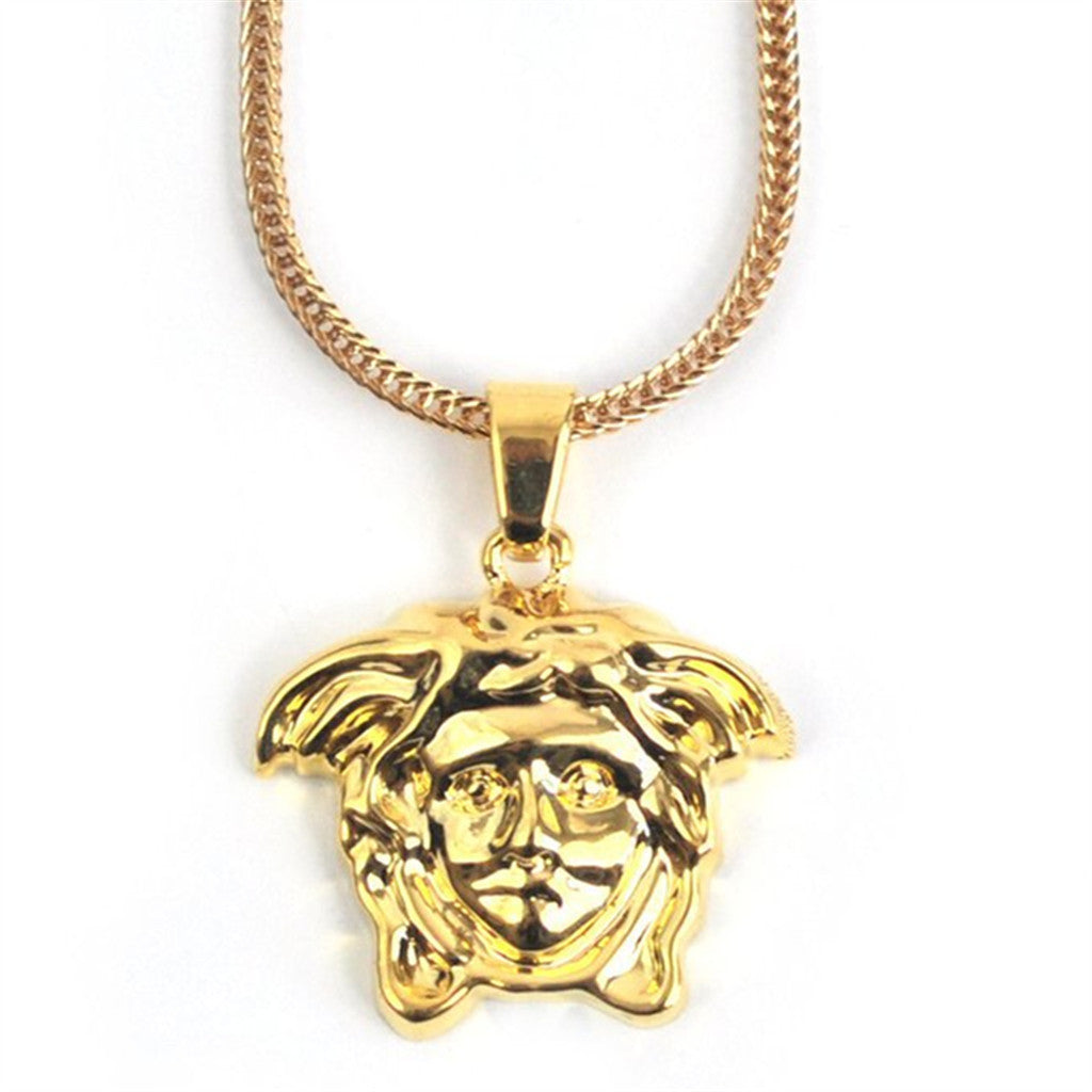 PVD 18K Medusa Head Piece Necklaces