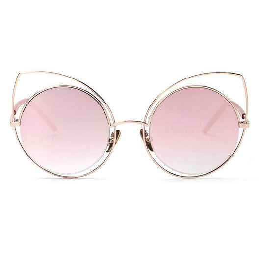 Mirror Cat Eye Sunglasses - Mix Colors