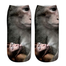 Unisex 3D Monkey Printed Socks