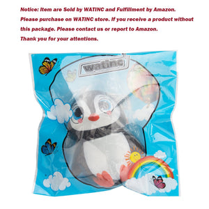 Wholesale Jumbo Penguin Squishy Slow Rising Sweet Scented - 5.5 Inch