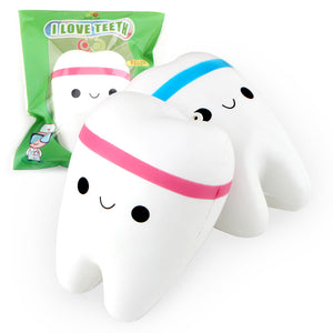 Wholesale Jumbo Tooth Squishy Mix Color - 11cm
