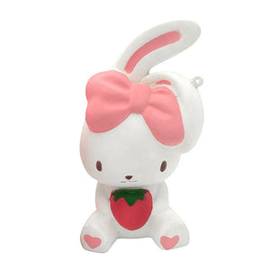 Wholesale Jumbo Bow Rabbit Squishy Mixed Colors - 14cm