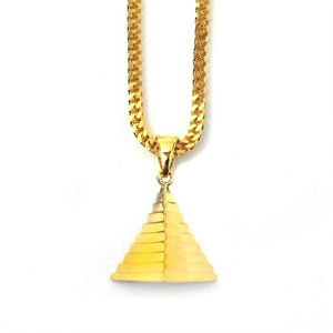 18K Micro Pyramid Piece Necklace