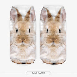 Unisex 3D Rabit Printed Socks