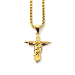 18K Christ The Redeemer Piece Necklace