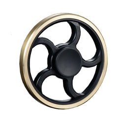 Round Black with Gold Copper Fidget Spinner