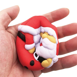 Medium Santa Super Slow Rising Squishy Toy - 7cm
