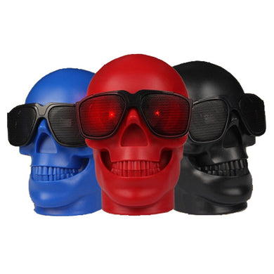 Skull Wireless Bluetooth Speaker Support AUX Rechargeable Portable Stereo Speakers