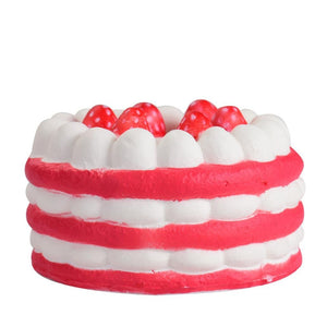 Wholesale Jumbo Stress Reliever Strawberry Cake Scented Squishy - 15cm