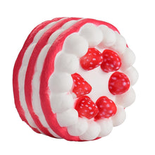 Load image into Gallery viewer, Wholesale Jumbo Stress Reliever Strawberry Cake Scented Squishy - 15cm