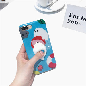 Iphone 3D Soft Silicone Poke Squishy Phone Cases Mix Styles - All Models