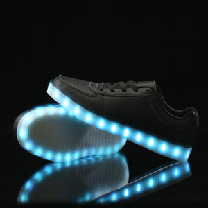 Low Top Led Shoes- Black