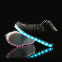 High Top Led Shoes - Black