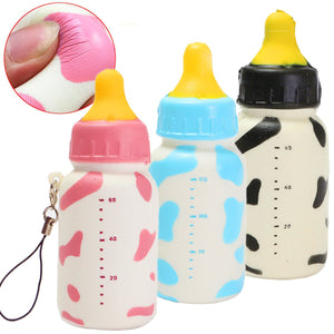 Wholesale Jumbo Cow Pattern Milk Bottle Squishy - 10cm