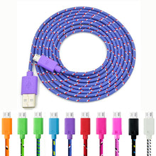 Cheap Micro USB Braided Nylon USB Charger Cable for Androids and Iphones - 2M/6Feet