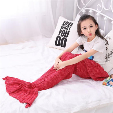 Knitted Mermaid Tail Blankets