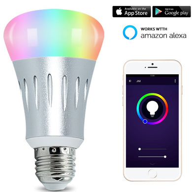 LED Smart Light Bulb, WIFI light, Multicolored Color Changing Bulbs, APP Controlled Daylight & Night Light