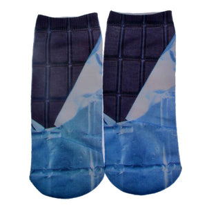 Unisex 3D Wrapped Chocolate Printed Socks