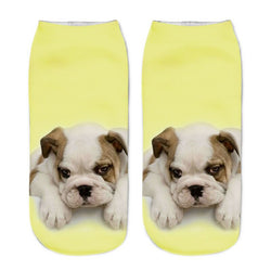 Unisex 3D Yellow Dog Printed Socks