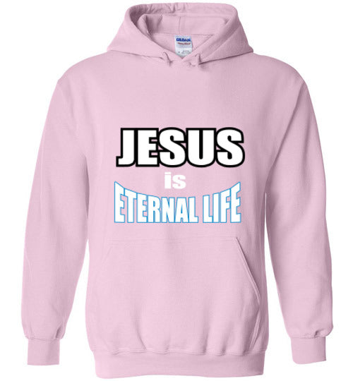 Jesus Eternal Life - Women's Hoodie - Scripture on Back