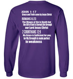 Jesus is the Grace of God - Long Sleeve - Scripture on Back