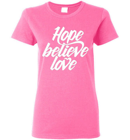 HOPE BELIEVE LOVE