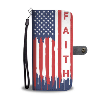 For God & Country (Faith) - Christian Wallet Phone Case