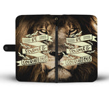 Be Strong & Courageous (Lion) - Christian Wallet Phone Case