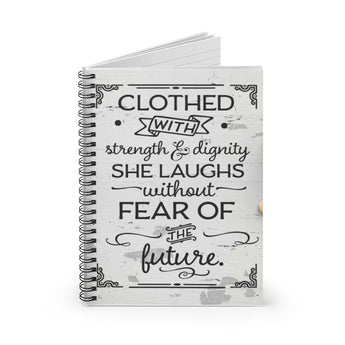 Clothed with Strength & Dignity Spiral Notebook - Christian Accessories