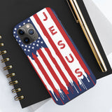 """Jesus American Flag"" Case Mate Tough Phone Cases"