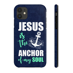 """Jesus is The Anchor"" Case Mate Tough Phone Cases"