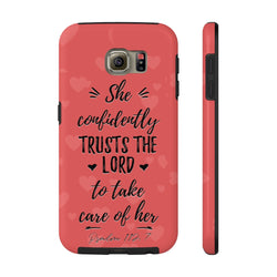 """She Confidently Trust The Lord"" Case Mate Tough Phone Cases"
