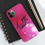 """Love"" Case Mate Tough Phone Cases"