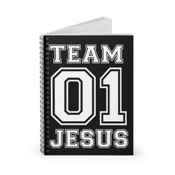 Team Jesus 01 Spiral Notebook - Ruled Line