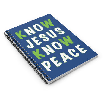 Know Jesus Know Peace Spiral Notebook - Ruled Line