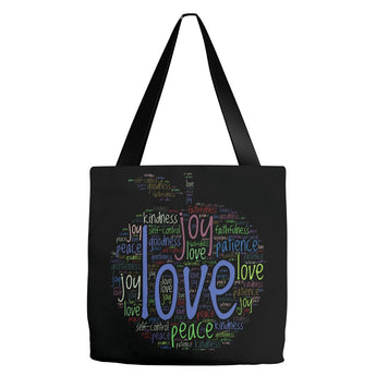 Christian Fruit of the Spirit Word Cloud - Premium Tote Bag