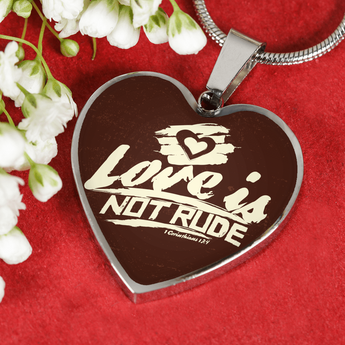 Love Is Not Rude - Luxury Heart Christian Necklace