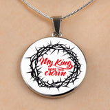 My King Wore This Crown - Luxury Christian Necklace