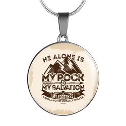 My Rock & Salvation - Luxury Christian Necklace