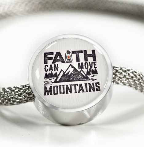 Faith Can Move Mountains - Luxury Christian Bracelet