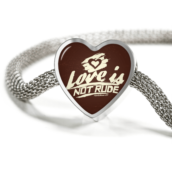 Love Is Not Rude - Luxury Heart Christian Bracelet