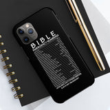 Bible Emergency Numbers Case Mate Tough Phone Cases