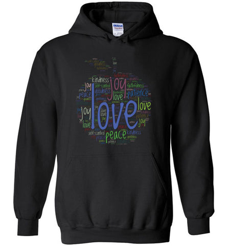 Fruit of the Spirit Word Cloud - Hoodie