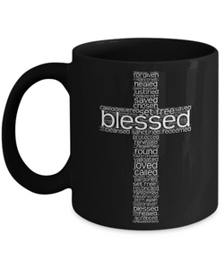 Christian At The Cross Word Cloud - Christian Coffee Mug