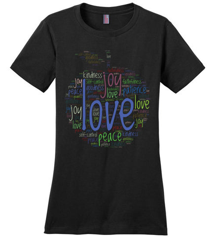 Fruit of the Spirit Word Cloud - Womens Tee