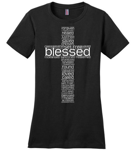 At The Cross (Blessed) - Womens Tee